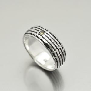 sein silver ring/Light yellow diamond/Ring M