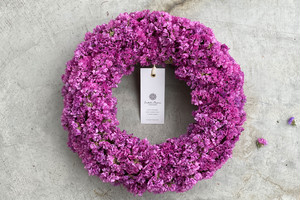 Statice Wreath Pink 03 | スターチスリース