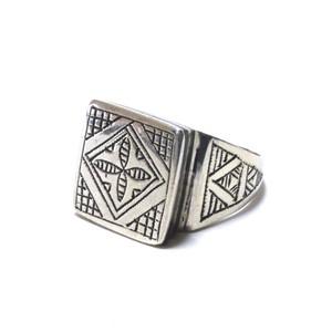 Vintage African Tuareg Silver & Ebony Wood Ring