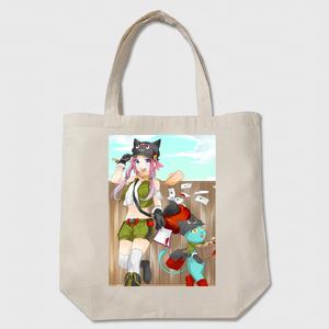 トートバッグ『猫の郵便屋』ベージュ