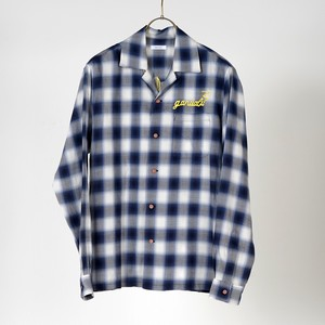 L/S OPEN COLLAR SHIRTS (BLUE) / GAVIAL