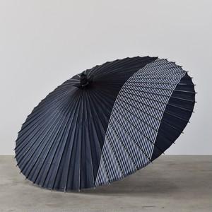 蛇の目傘 棒縞 (紺)