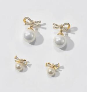 ribbon pearl pierce 2type