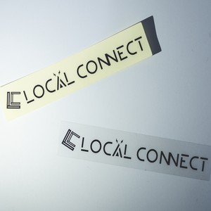 LOCAL CONNECT ロゴ クリアステッカー