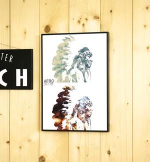 A3サイズ アートポスター native american