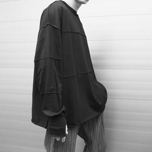 【UNISEX - 1 size】SWITCHING LONGSLEEVE / Black