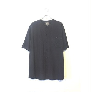 Embroidery no collar shirt