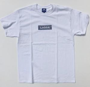"""Laggamind(ラガマインド)""""【Laggamind ラガマインド Bandana Box Logo Tee】""""[WHATE]"""