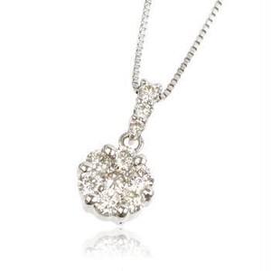 プラチナ 0.34ct ダイヤモンドネックレス