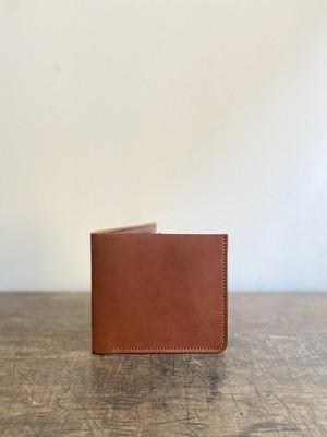 クラシック二つ折り財布 栗色