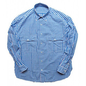 Porter Classic - ROLL UP TRICOLOR GINGHAM CHECK SHIRT - BLUE [PC-016-1314]