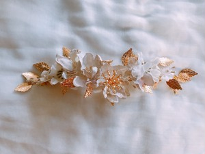 Vintage Gold Leaf cloth flower 《花冠》