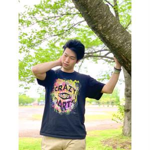 ダーツフライトロゴファッションTシャツ(CRAZY ABOUT DARTS)