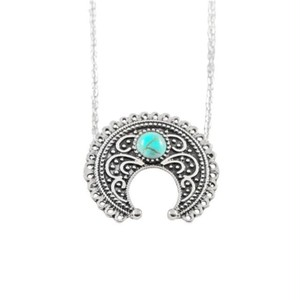 Chic Retro Necklace Silver Turquoise