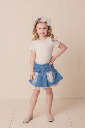 Ruffle Denim Skirt(Los Angeles Brand)