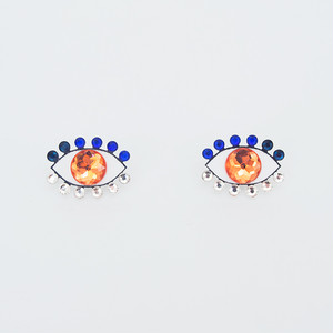 Medama Pierces / Earrings(S) -orange-