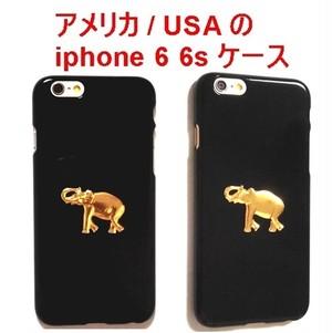 CaseCavern ケースキャバーン ゴールド メッキ エレファント iPhone 6 6s Case Elephant Gold Pendant Black 24k アイフォン シックス ケース 海外 ブランド