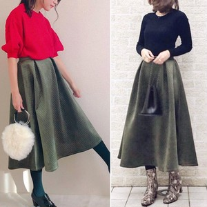 【即納】Roofa×She'sCloset♡Dramatic Flare Skirt R04