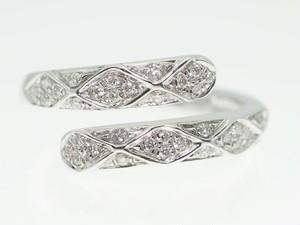 【0.250Cts】18KWG ダイヤモンドリング【サイズ直し無料】