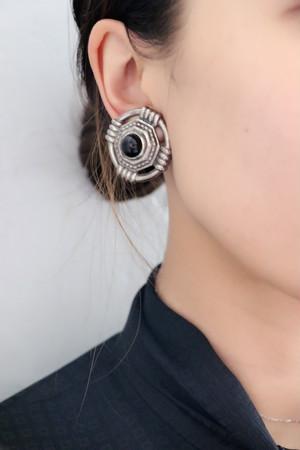 silver x black earrings
