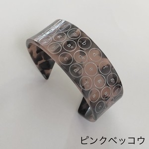 (細)ACCORDION CROMATIC C-BUTTON BANGLE