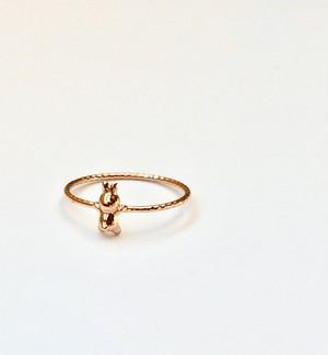 うさぎ ring K10 YellowGold/PinkGold #00801