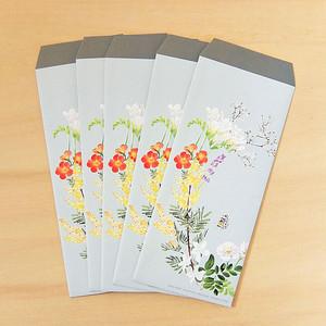 長4封筒 花