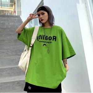 【トップス】アボカドグリーン青春ファッションカジュアル半袖Tシャツ27311772
