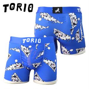 【新作】【TORIO】一匹ワンちゃん・ブルー / 2101002 トリオ 光る メンズ ボクサーパンツ