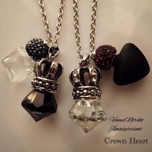 crownハートⅠ♥ペア(ロングネックレス)