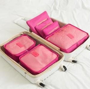 5000旅行 ポーチ アレンジケース  メッシュポーチ+ランドリーポーチ 旅行 グッズ トラベル用品 6種ポーチセット ロース