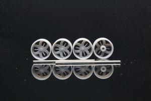 8.5mm Billet Specialties GS3D タイプ 3Dプリント ホイール 1/64 未塗装