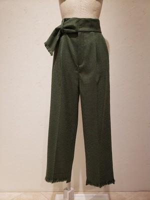 裾段差サマーツイードセミワイドパンツ81270-210