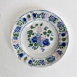 [KR30208] 印判皿 鳥(1枚)/ 大正 / Inban (Stamp) Plate/ Taisho Era
