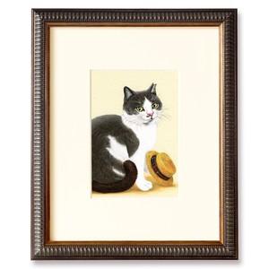 ねこと麦わら帽 原画 / Cat and Straw Hat Original Artwork
