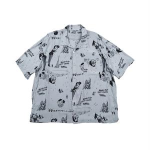 PORTER CLASSIC Blondes Aloha Shirt Gray PC-024-1077-11