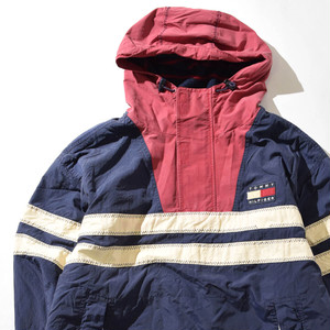【XLサイズ】TOMMY HILFIGER トミーヒルフィガー 90s Anorak アノラック JKT ジャケット NAVY ネイビー XL 400610191202