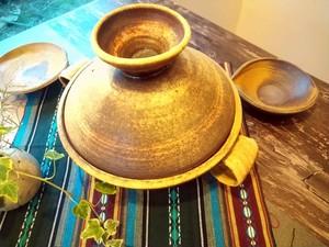 穴窯 薪窯焼締 土鍋 E-0042