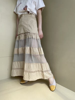 see-through design skirt / 6SSSK30-01