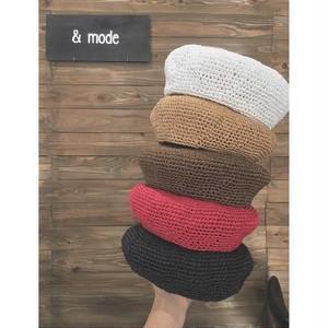 ペーパー素材ベレー帽【&mode】