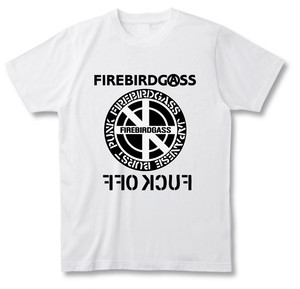 "FIREBIRDGASS""CIRCLE LOGO"" T-SHIRTS  【WHITE】"