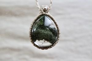 ヒマラヤ水晶ペンダント ガネーシュヒマール産(マクラメ編み)