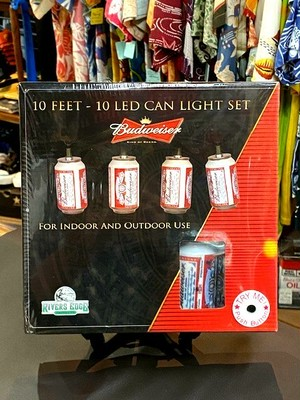 Budweiser 10LED CAN LIGHT SET/RIVERS EDGE PRODUCTS