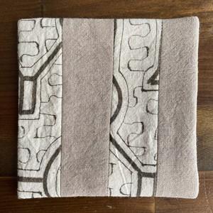 コースター3 両面 10x10cm-3 ポットマット 泥染めキルト シピボ族の工芸