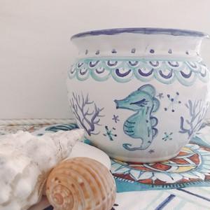 マヨリカ焼き お魚柄の鉢(中サイズ)