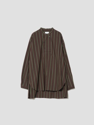 UNDECORATED WASHED CO CHEF STRIPE SHT Brown UDF21202B