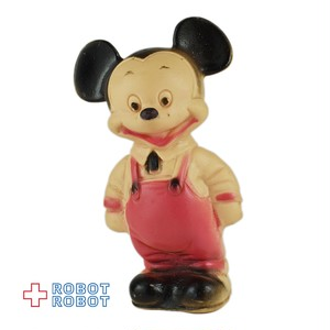 ミッキーマウス ラバードール 赤 オーバオール