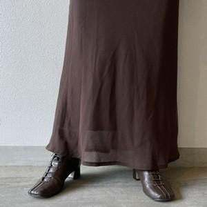 (LOOK) see-through maxi skirt
