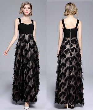 ノースリーブ ロング ワンピース パーティードレス 結婚式 二次会 お呼ばれ ドット柄 お呼ばれドレス ドレス 20代 30代 40代 透け感