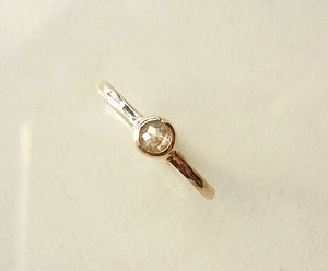 K様オーダーメイドご購入フォーム ナチュラルダイヤのK10のリング(ホワイト)